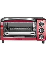 Black+Decker TO1755SRG-LA Horno Eléctrico con Convección Natural, color Rojo