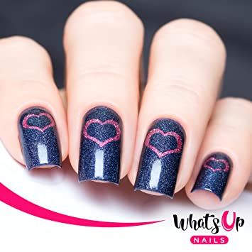 Amazon Whats Up Nails Open Heart Nail Stencils Stickers