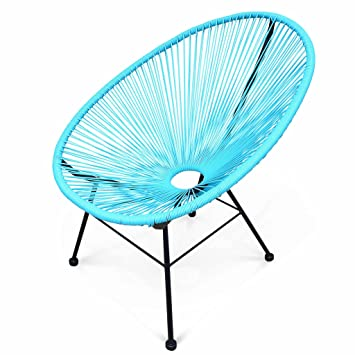 Alice's Garden Design Turquoise Cordage Pvc Fauteuil Oeuf Acapulco KTJlc3F1