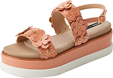 MTNG Sandales Plate Forme Synthétique Rose Taille
