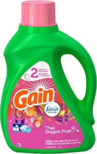 Gain with Febreze Liquid HE Laundry Detergent - Thai Dragon Fruit Scent 50 Ounce Bottle