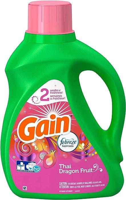 Gain with Febreze Liquid HE Laundry Detergent - Thai Dragon Fruit Scent 50 Ounce Bottle