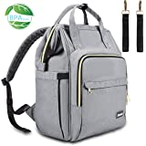 Diaper Bag, Multi-Functional Blusmart Baby Changing Bag, Stylish & Durable Waterproof Nappy Backpack with Wide Opening, Large Capacity, and Stroller Straps for Mom & Dad, Picnic, and Travel-Gray
