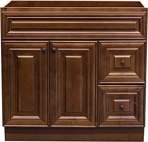 New Maple walnut Single-sink Bathroom Vanity Base Cabinet 36 Wide x 21 Deep MW -V3621D