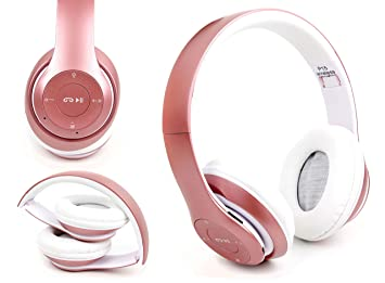 DURAGADGET Casque Audio sans Fil en Or Rose pour Tablette Auchan Qilive Q4 Android 8""