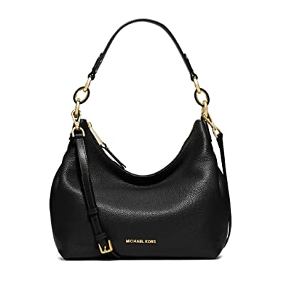 bb67cead2fe411 Amazon.com: MICHAEL MICHAEL KORS Isabella Large Leather Shoulder Bag  (Black): Shoes