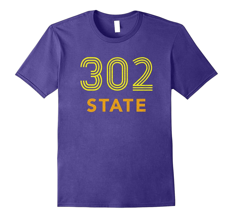 302 T-Shirt Distressed Delaware Retro Tee-TH