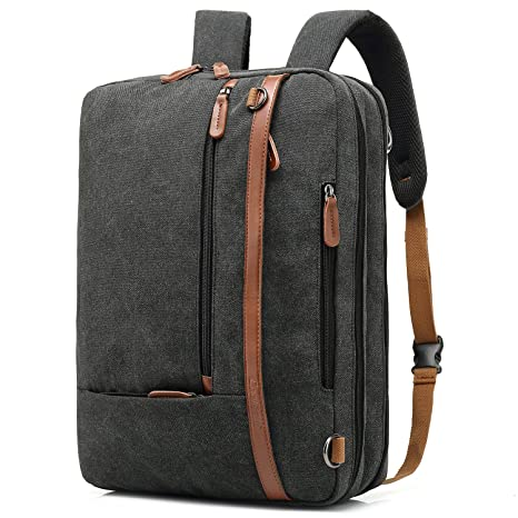 421a1f105680 CoolBELL Convertible Backpack Shoulder Bag Messenger Bag Laptop Case  Business Briefcase Leisure Handbag Multi-Functional Travel Rucksack Fits  17.3 ...