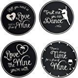4 Absorbent Drink Coasters - Best Wine Gifts Accessory for Any Wine Lover