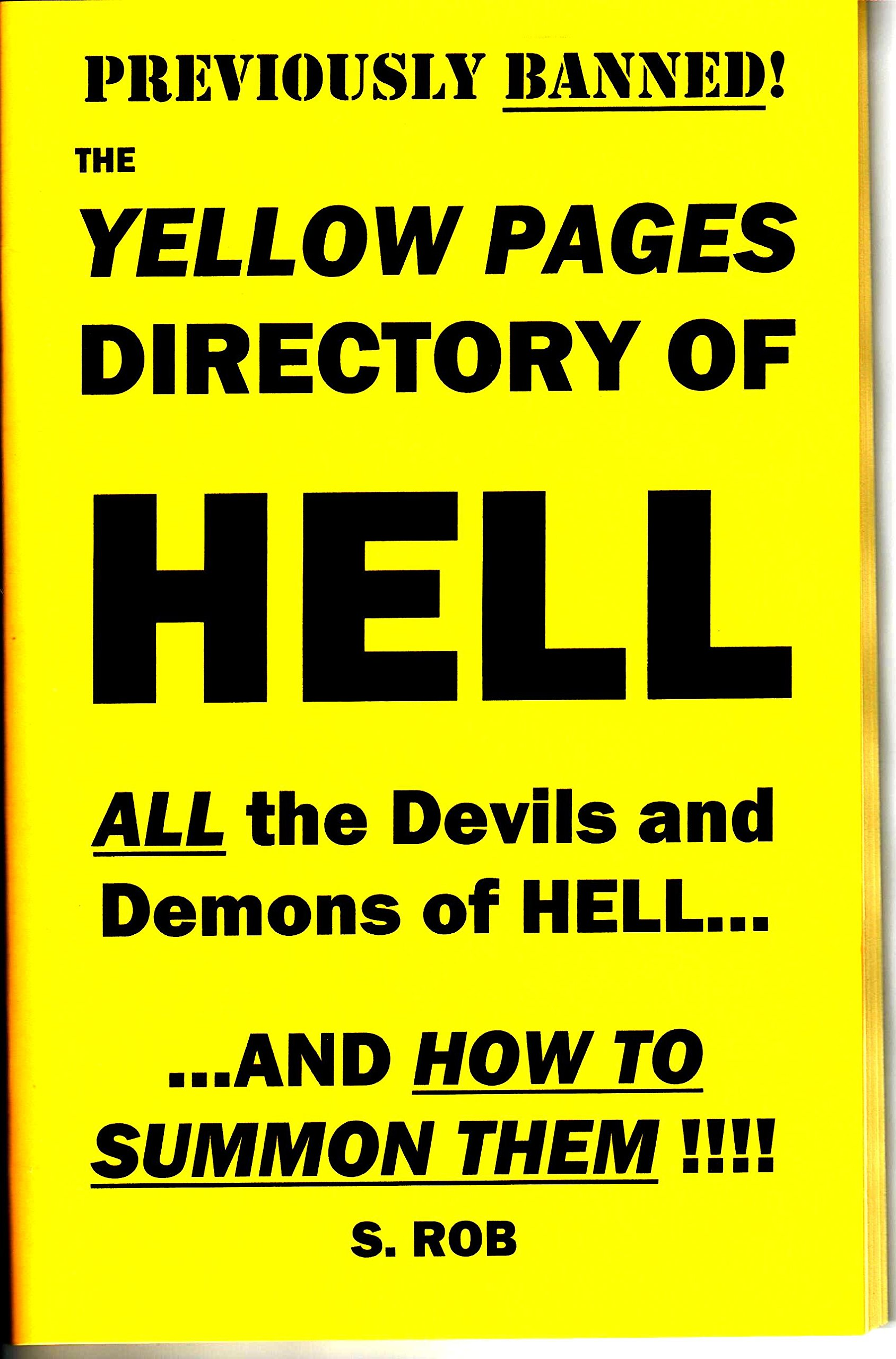 The Yellow Pages directory of Hell: S. Rob: Amazon.com: Books