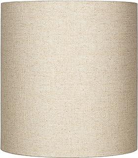 Oatmeal Tall Linen Drum Shade 14x14x15 (Spider)