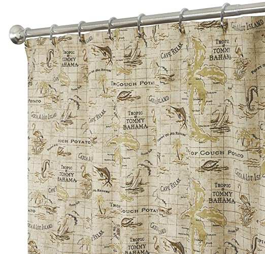 Amazon Nautical Shower Curtains Tommy Bahama Fabric Brown Map 72 Inches Home Kitchen