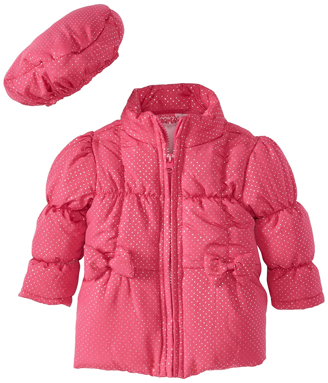 Young Hearts Baby Girls 2 Piece Bow Tie Pocket Jacket And Hat