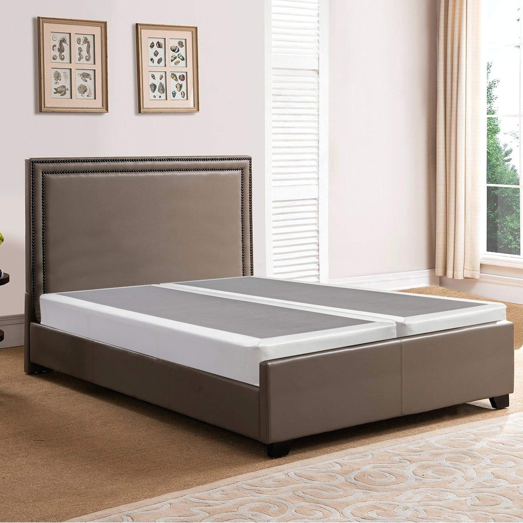 Spring Solution, 8-inch Fully Assembled Split Box Spring/Foundation for Mattress, Queen Size
