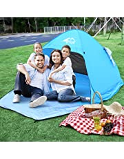 BFULL Pop Up Beach Tent with A Closable Door for 1-3 Man, Automatic Sun Tents Anti UV for Beach, Garden, Camping, Fishing, Picnic