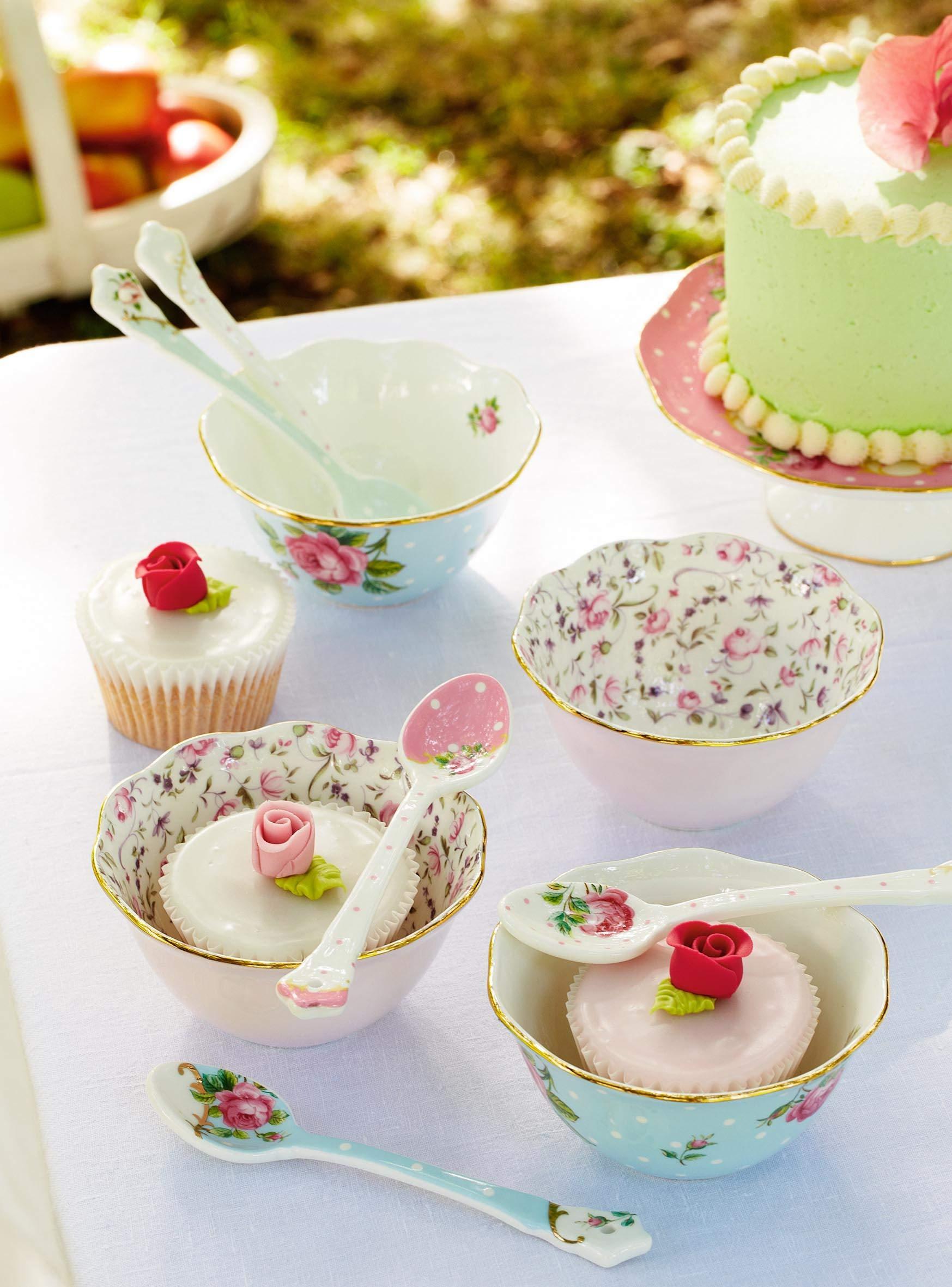 Royal Albert Set of 4 Mixed Ceramic Spoons by Royal Albert (Image #4)