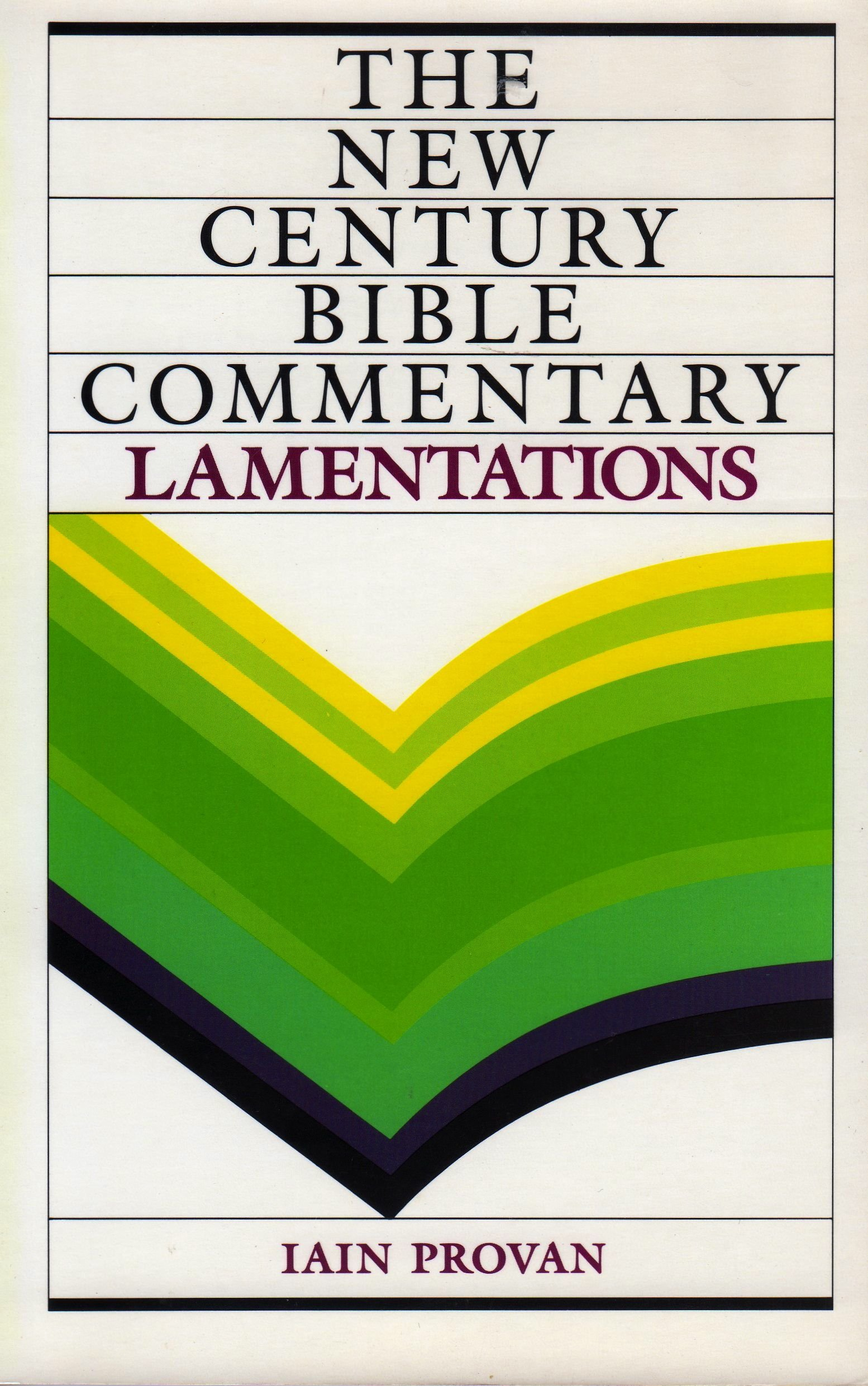 Lamentations new century bible commentary iain ph d provan 9780802805478 amazon com books