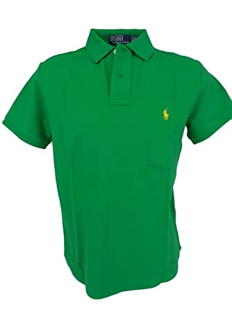526b199d4 Polo Ralph Lauren Mens Custom Fit Short Sleeves Polo Shirt at Amazon ...