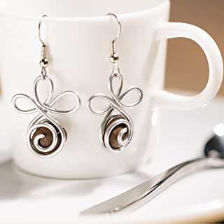 product image for Fair Trade Coffee Bean Earrings, Handmade Coffee Jewelry Made with Love in the Dominican Republic