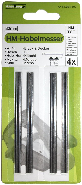 4 St/ück HM Hartmetall Wendemesser DN KW D1 711 730 735 E Hobelmesser f/ür Black/&Decker Hobel B/&D Elektrohobel BD713