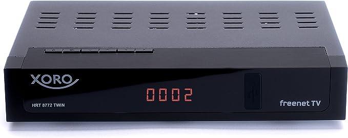 Xoro Hrt 8772 Twin Hybrid Dvb C Dvb T T2 Receiver Für Digitales Kabel Und Antennenfernsehen Schwarz Heimkino Tv Video