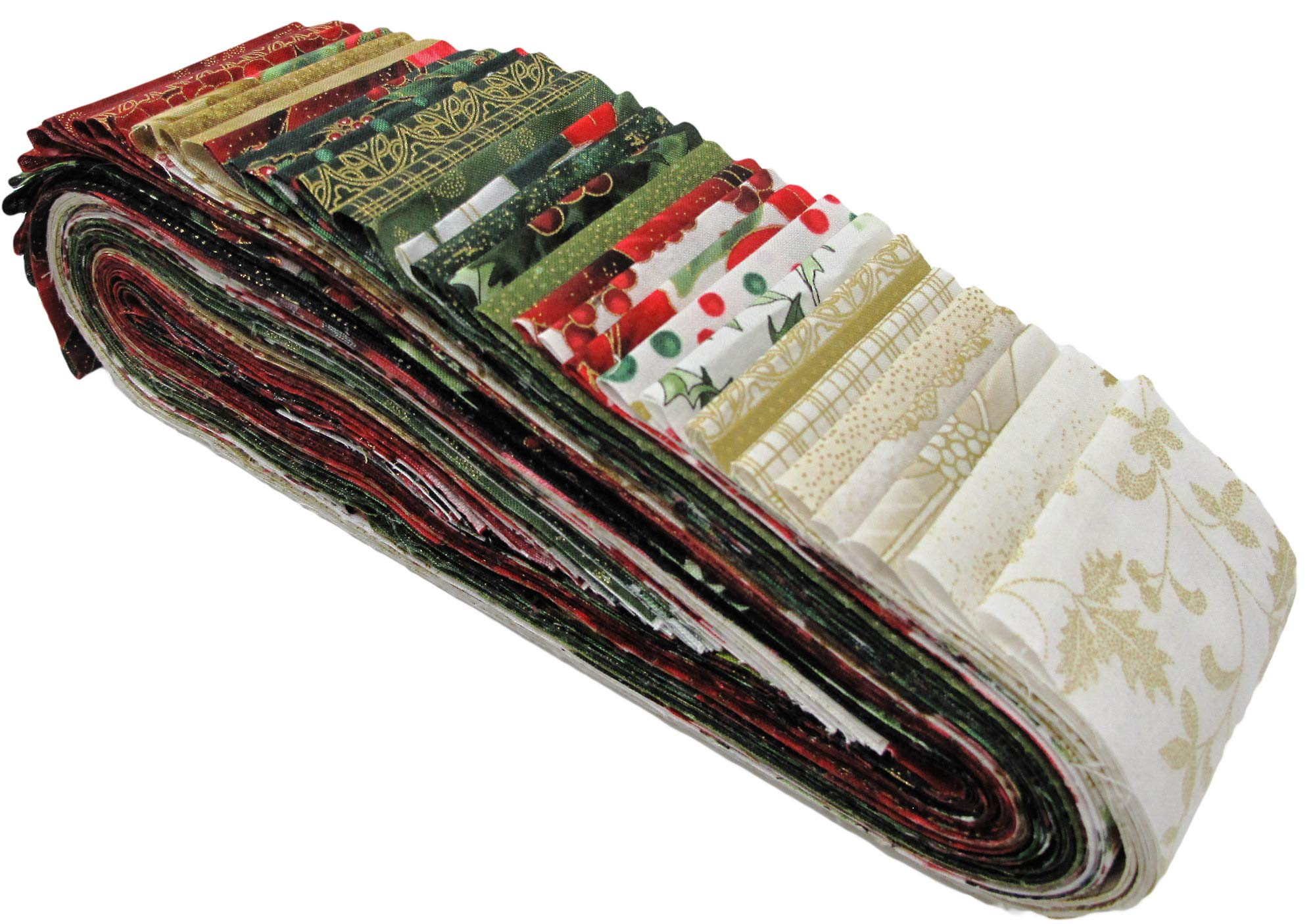 Jingle Pops 6 Gold Bali Pop 40 2.5-inch Strips Jelly Roll Hoffman Fabrics JP6-47-GOLD