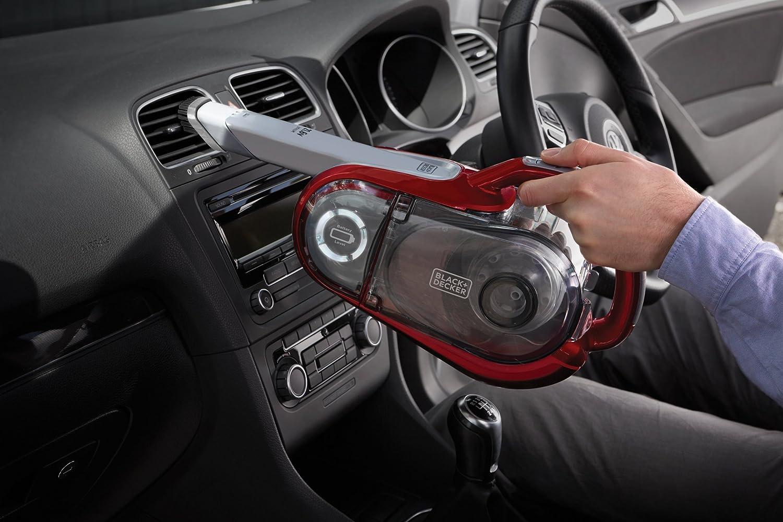 con Technologia ORA 21.6 V Rosso Batteria al Litio BLACK+DECKER HVFE2150L-QW Scopa Ricaricabile