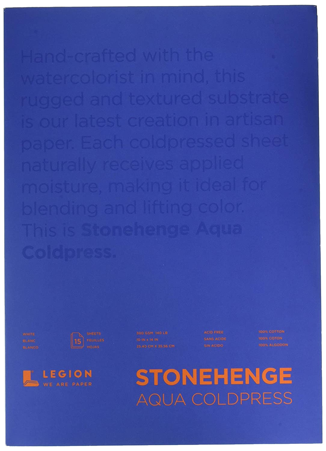 Hojas Legion Stonehenge Aqua Watercolor Block Cold Press