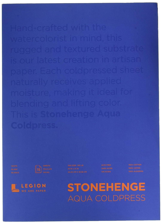 Hojas Legion Stonehenge Aqua Watercolor Block Cold Press