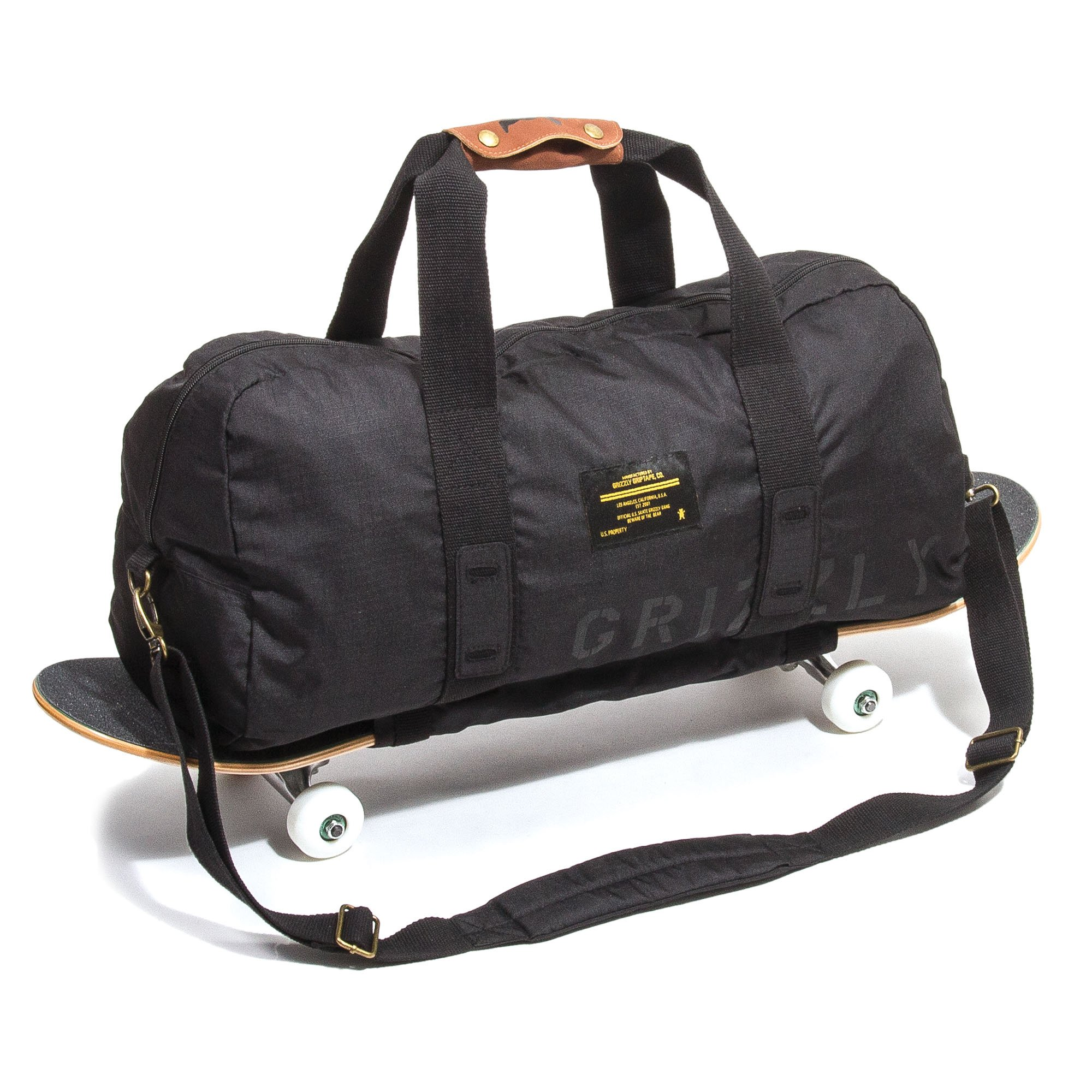 Grizzly Griptape Military Duffle Bag, Black, One Size