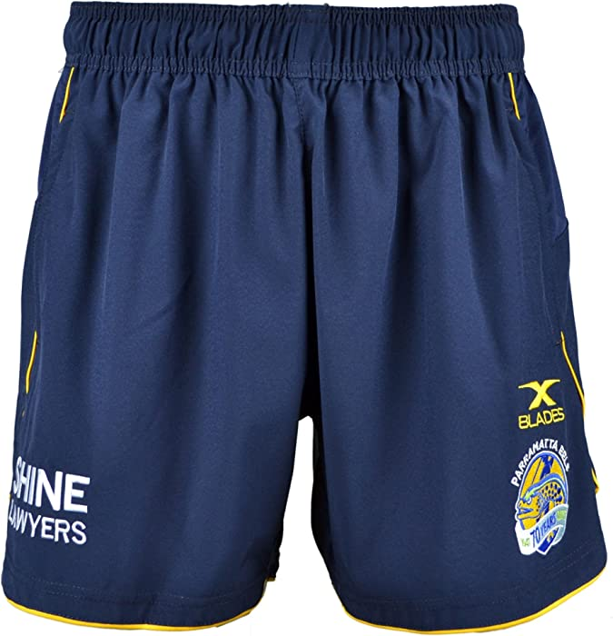 4fad744ba368 Parramatta Eels NRL 2017 Rugby Training Shorts - Navy - size 4XL   Amazon.co.uk  Clothing