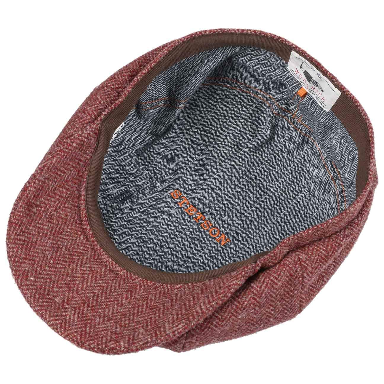 cf0d4675c Stetson Hatteras Woolrich Flat Cap Men | Made in The EU caps Ivy hat  Newsboy with Peak, Lining, Lining Autumn-Winter