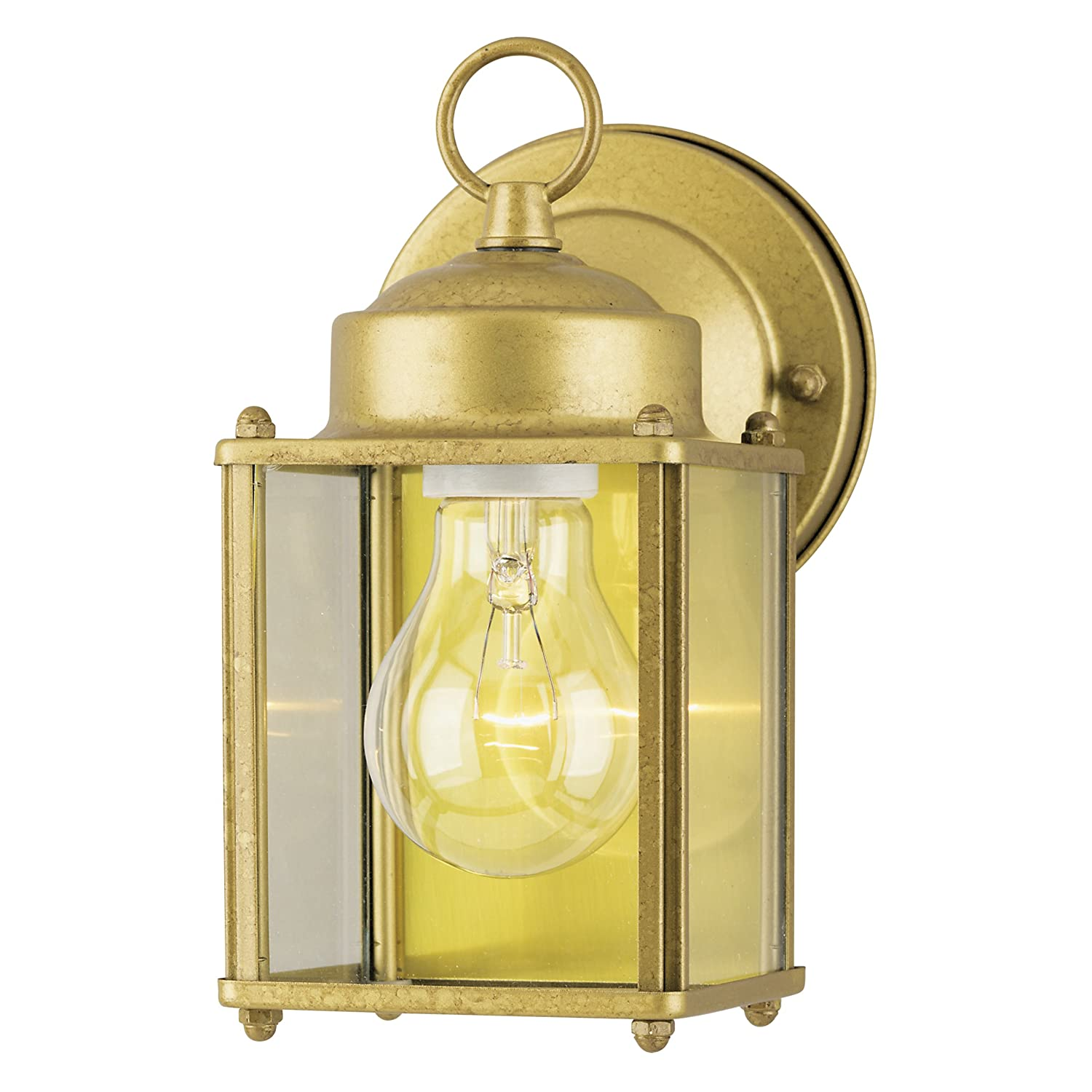 Goldenrod Finish on Steel with Clear Glass Panels Westinghouse 6693800 One-Light Exterior Wall Lantern