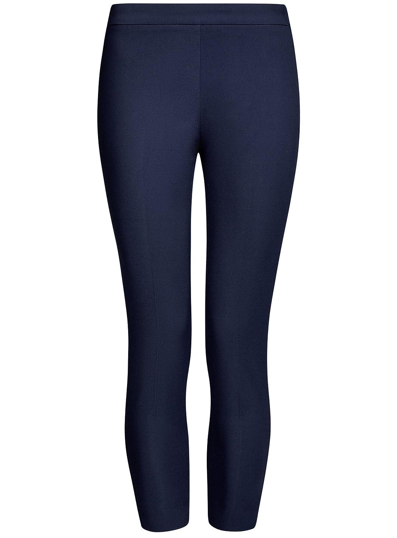 oodji Ultra Mujer Pantalones Ajustados con Cremallera en el Lateral