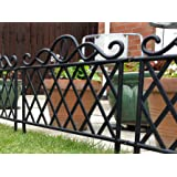 GREEN BLADE BB-BE107 Plastic Garden Border Fence - Black