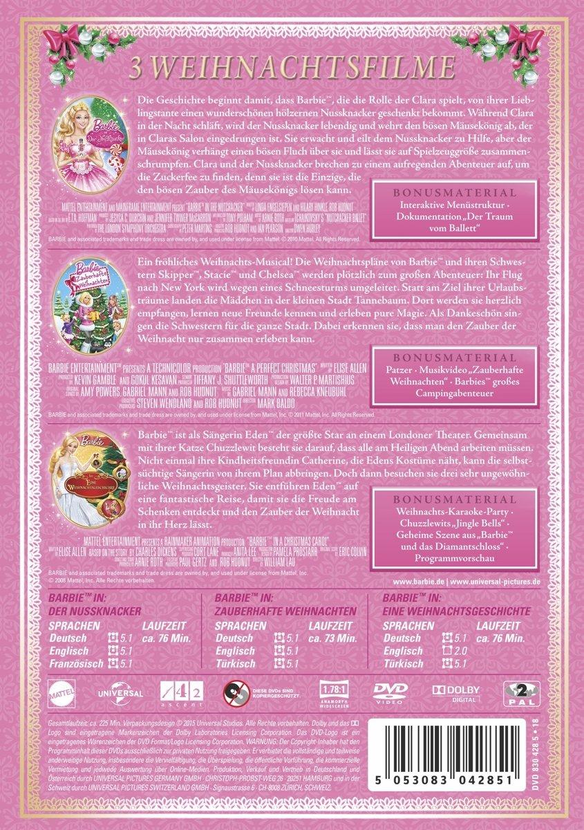 Barbie Weihnachts-Edition - 3 Filme [3 DVDs]: Amazon.de: Various ...