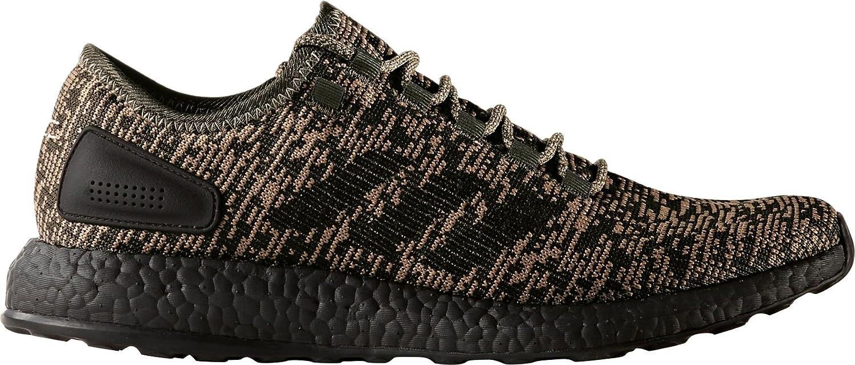 AdidasメンズPureboost実行靴、( Green / Black , 8.5 ) B0763JTCJJ
