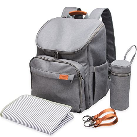 Amazon.com : Teamoy Diaper Bag Backpack, Travel Weekender Carry Bag with Stroller Straps, Changing Pad, Insulated Bottle Holder, Multipurpose, Wide Open, ...