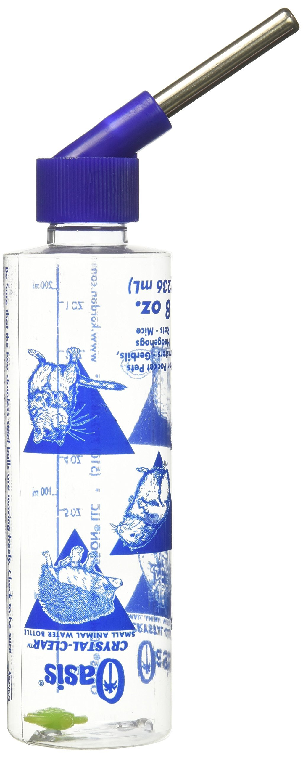 OASIS  # 80500  Hamster Water Bottle, 8-Ounce, Clear