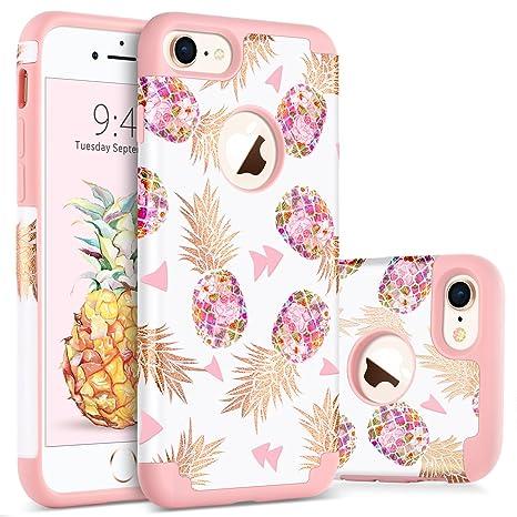 BENTOBEN Funda iPhone 8 Piña, Funda iPhone 7, Ultra Delgado Case Cover Mono Brillante
