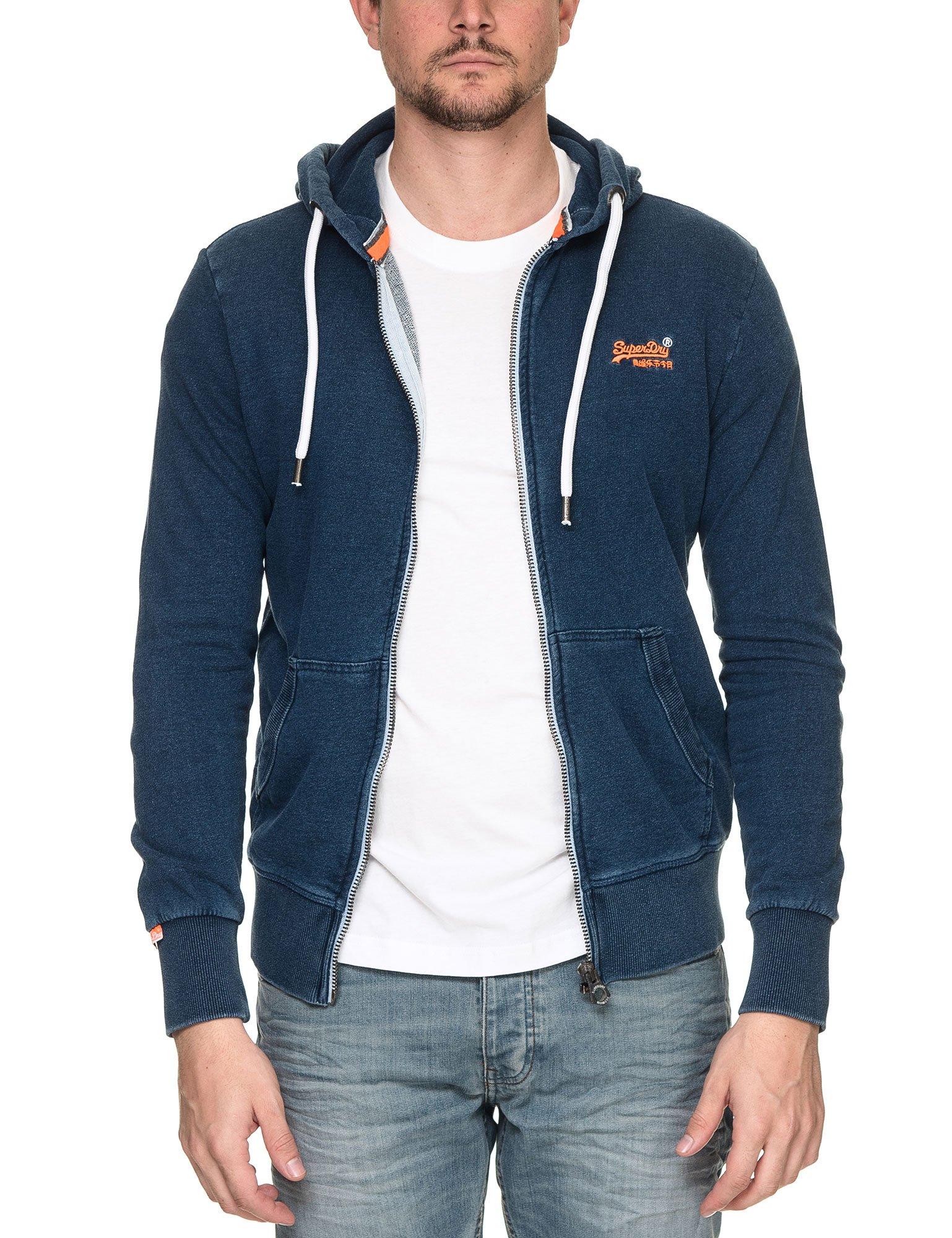 Superdry Men's Orange Label Men's Blue Hoodie in Size XXL Blue