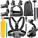 Neewer 8-In-1 Action Camera Accessory Kit for GoPro Hero Session/5 Hero 1 2 3 3+ 4 5 SJ4000 5000 6000 DBPOWER AKASO VicTsing APEMAN WiMiUS Rollei QUMOX Lightdow Campark And Sony Sports DV and More