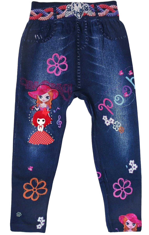 KMystic Girls Toddlers Printed Faux Denim Leggings