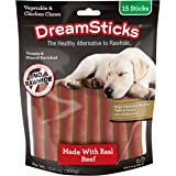 DreamBone DBB-02448 DreamSticks With Real Beef 15 Count, Rawhide-Free Chews For Dogs