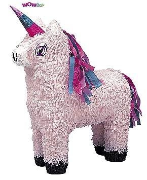Pull String White Unicorn Pinata