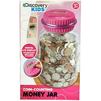 Amazon Com Discovery Kids Coin Counting Money Jar
