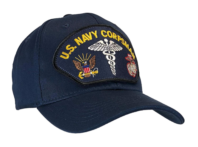 Amazon.com  US Navy Corpsman Hat Dark Blue Ball Cap  Clothing 2540d0f342c