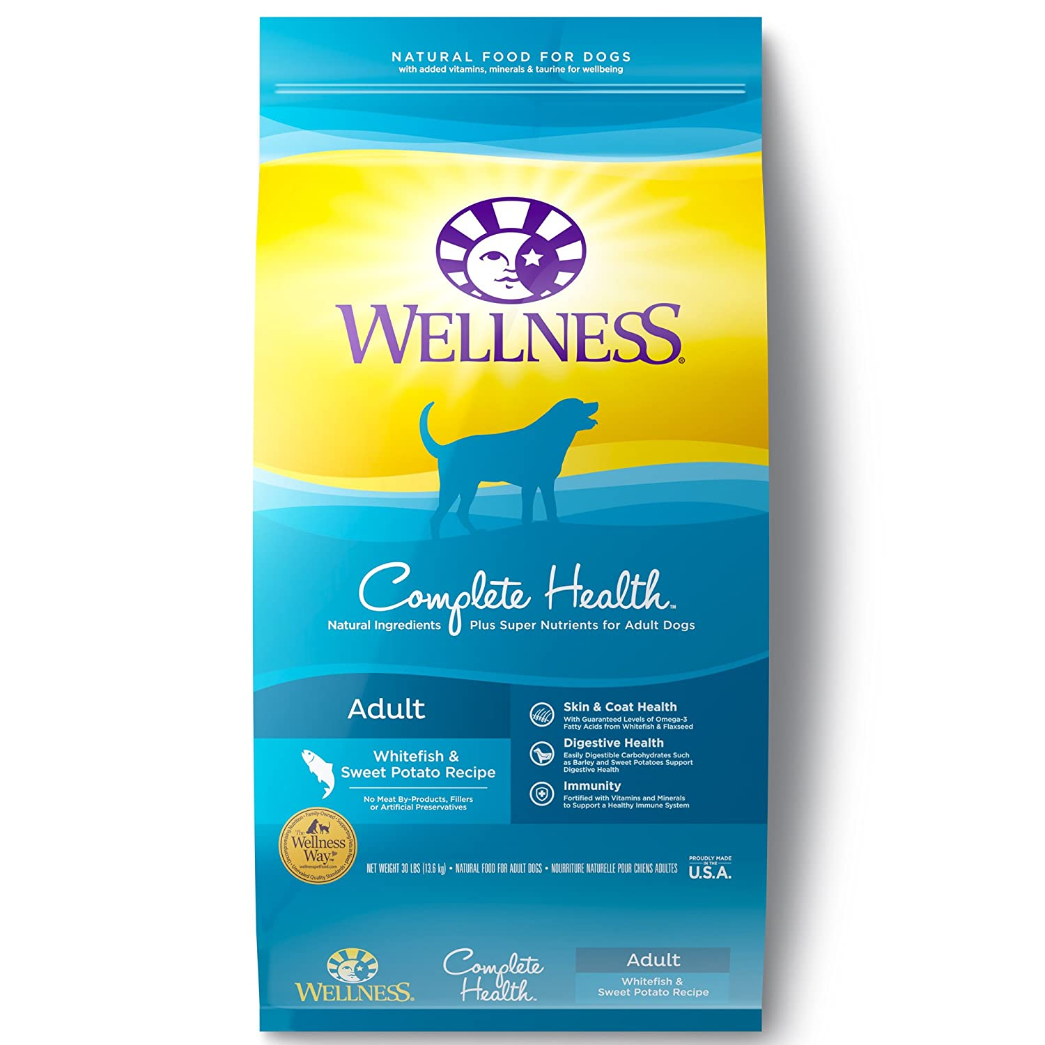 Wellness Complete Health Natural Dry Dog Food, Whitefish Sweet Potato