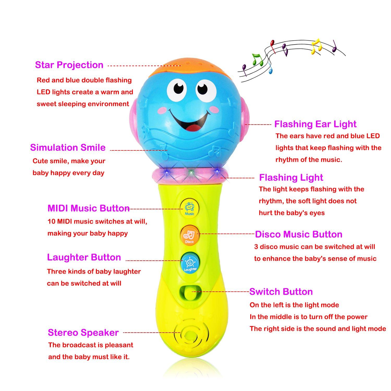 Baby Spielzeug 6-18 Monate, Spielzeug Mikrofon für 1-3 Jahre alt ...
