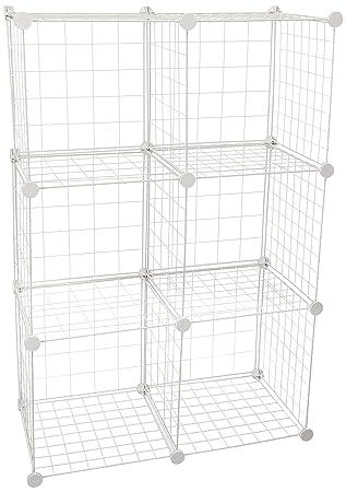 Elegant Honey Can Do SHF 03521 Modular Mesh Storage Cube, 6 Pack